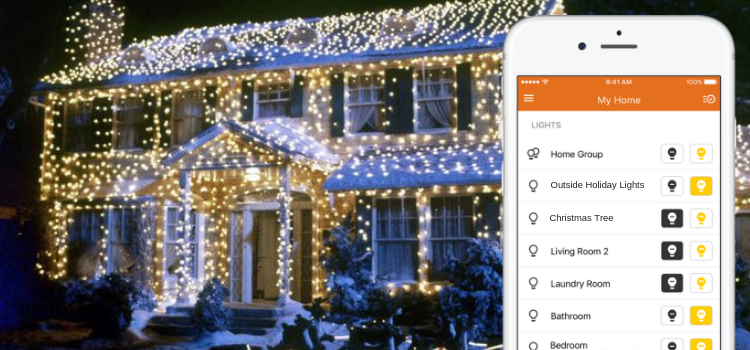 Home security app holiday protection