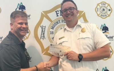 QEI Security & Technology Donates $2,000 to Mt. Pleasant Fire Department