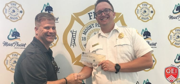 QEI donation to Fire Department in Mount Pleasant, SC